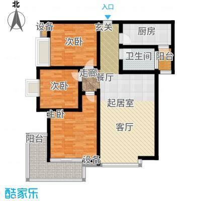 曲江诸子阶105.00㎡曲江诸子阶户型图C6户型3室2厅1卫1厨户型3室2厅1卫1厨