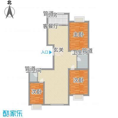 巨华时代广场155.40㎡户型2室2厅1卫1厨