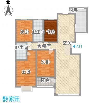 世纪阳光花园4室2厅1户型4室2厅2卫1厨