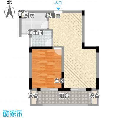 国际丽晶城73.79㎡国际丽晶城户型图1室2厅1卫1厨户型10室