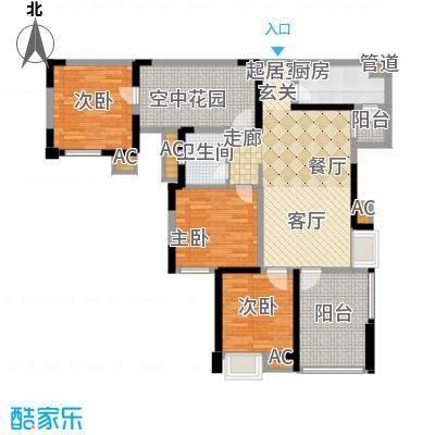 幸福大街104.00㎡幸福大街户型图幸福B4层三室两厅104㎡3室2厅1卫1厨户型3室2厅1卫1厨