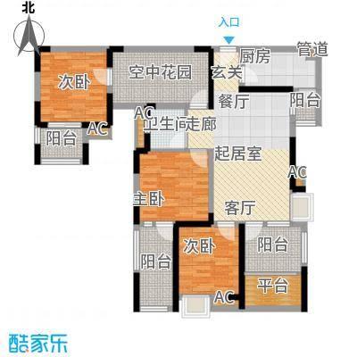 幸福大街104.00㎡幸福大街户型图幸福B3层三室两厅104㎡3室2厅1卫1厨户型3室2厅1卫1厨