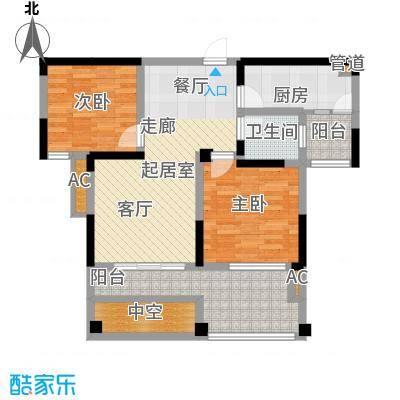 幸福大街82.00㎡幸福大街户型图g82室2厅1卫1厨户型2室2厅1卫1厨