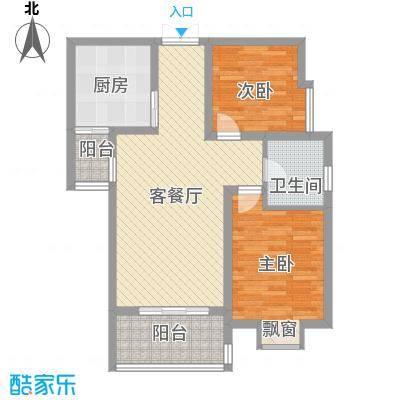 西江月85.50㎡西江月户型图C2户型2室2厅1卫1厨户型2室2厅1卫1厨