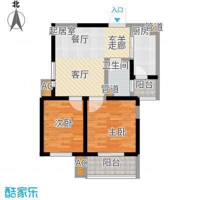 上和城82.23㎡上和城户型图B户型(1号楼)2室2厅1卫1厨户型2室2厅1卫1厨