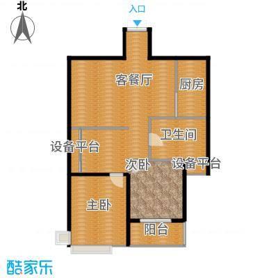 滨湖品阁92.07㎡7-1户型2室1厅1卫1厨