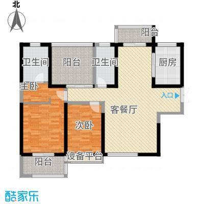 曲江中铁建国际城130.00㎡曲江中铁建国际城户型图16#D户型3室2厅2卫1厨户型3室2厅2卫1厨