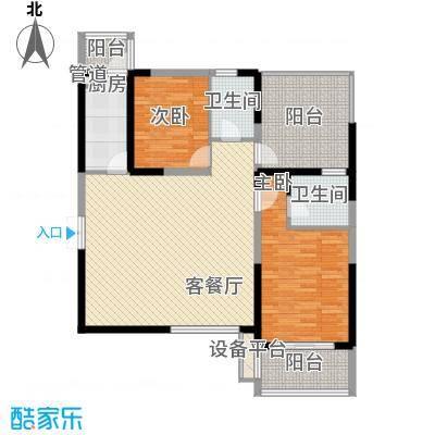 曲江中铁建国际城121.00㎡曲江中铁建国际城户型图D-2户型3室2厅2卫1厨户型3室2厅2卫1厨