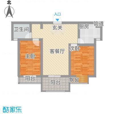 红东花园84.09㎡红东花园户型图A6户型2室2厅1卫1厨户型2室2厅1卫1厨