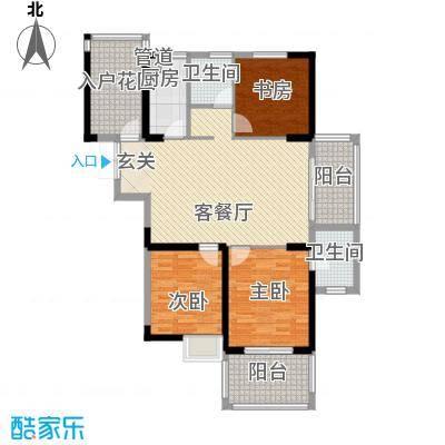 新加坡花园城117.31㎡新加坡花园城户型图蜀山阁16#01户型3室2厅2卫1厨户型3室2厅2卫1厨