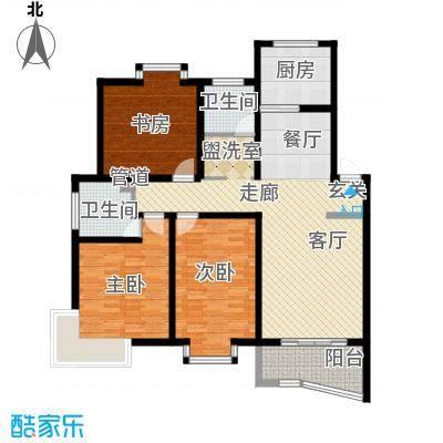 金典名筑120.00㎡金典名筑户型图I3室2厅2卫1厨户型3室2厅2卫1厨