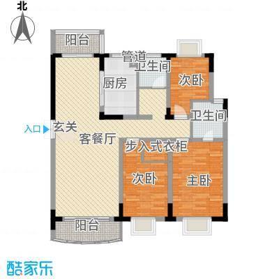乡村花园南艳湾户型图3室2厅2卫1厨