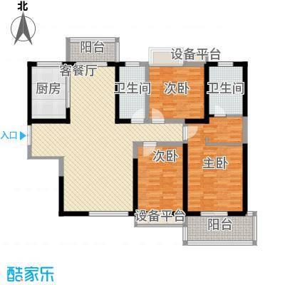 曲江中铁建国际城137.00㎡曲江中铁建国际城户型图16#D户型3室2厅2卫1厨户型3室2厅2卫1厨