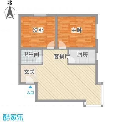 百花家园户型图5#2 2室2厅1卫1厨