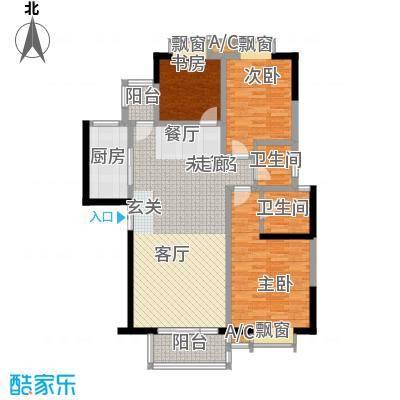 天朗西子湖127.21㎡天朗西子湖户型图21号楼-F2户型3室2厅2卫1厨户型3室2厅2卫1厨