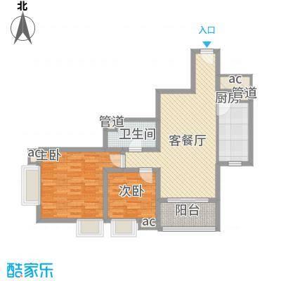 �泰大厦94.66㎡�泰大厦户型图B座30-31层042室2厅1卫1厨户型2室2厅1卫1厨