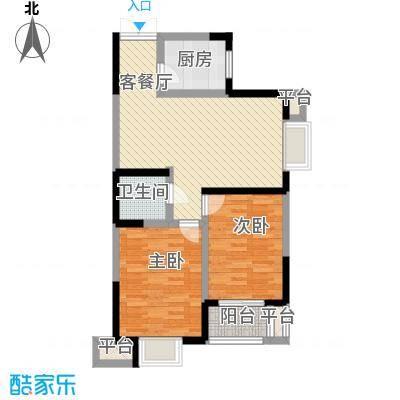 天朗西子湖89.12㎡天朗西子湖户型图10号楼-A7户型2室2厅1卫1厨户型2室2厅1卫1厨