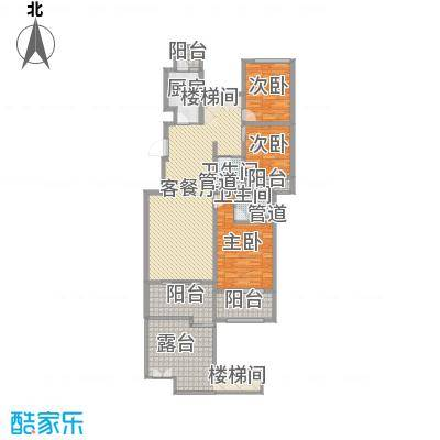 林隐天下125.60㎡林隐天下户型图wl-A2-13室2厅2卫1厨户型3室2厅2卫1厨