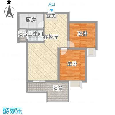 曲江明珠87.50㎡曲江明珠户型图两室两厅一卫一厨2室2厅1卫1厨户型2室2厅1卫1厨