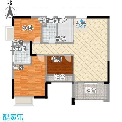 岗前路小区123.00㎡岗前路小区3室户型3室