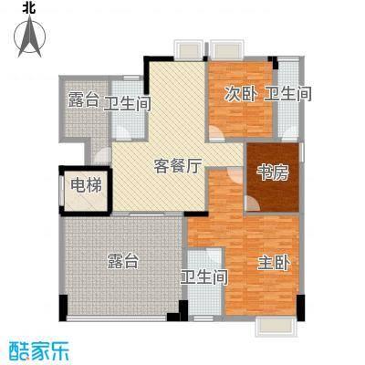 星缘美居304.25㎡户型A复式二层户型6室3厅4卫1厨