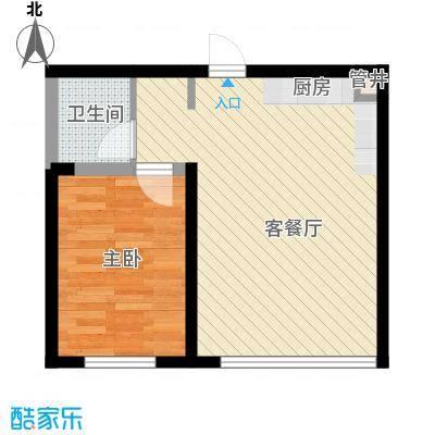 桐楠格翡翠城36.66㎡10#一室户型1室1厅1卫1厨