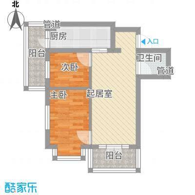 文政雅居户型图2室1厅1卫1厨