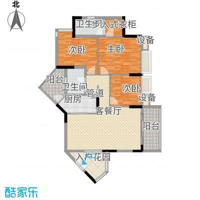 逸林首府户型图一座01单位 3室2厅1卫1厨