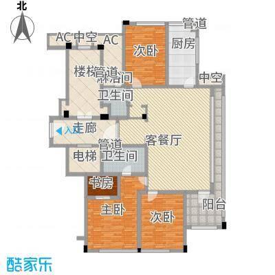 绿城�园162.00㎡绿城�园户型图1号楼东边套C户型3室2厅2卫1厨户型3室2厅2卫1厨