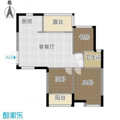 上东臻品83.11㎡户型3室1厅1卫