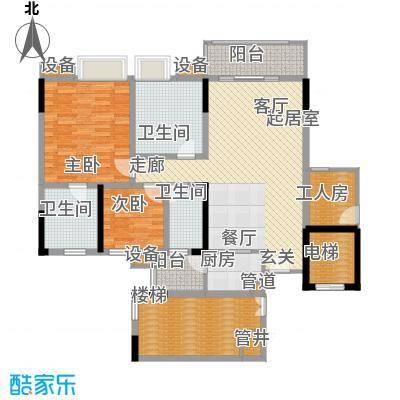 勒水名筑111.40㎡勒水名筑户型图6栋2梯3-10层03户型3室2厅3卫1厨户型3室2厅3卫1厨