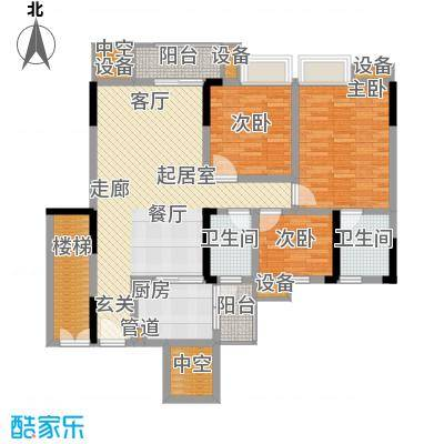 勒水名筑113.32㎡勒水名筑户型图6栋1梯3-10层02户型3室2厅2卫1厨户型3室2厅2卫1厨