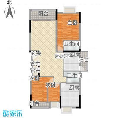 勒水名筑146.67㎡勒水名筑户型图4和5栋3-10层03户型3室2厅2卫2厨户型3室2厅2卫2厨