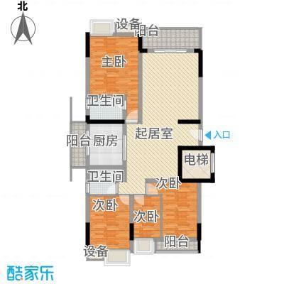 勒水名筑147.34㎡勒水名筑户型图4和5栋3-10层01户型4室2厅2卫1厨户型4室2厅2卫1厨