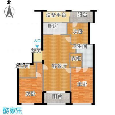 银马公寓163.01㎡户型3室1厅2卫