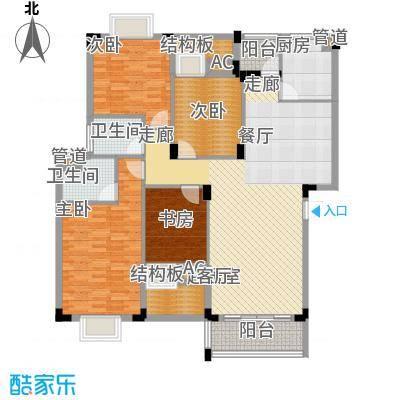 愉景花园75.00㎡愉景花园4室户型4室