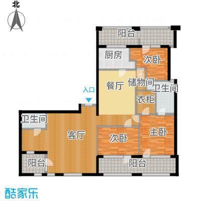 银马公寓185.41㎡户型3室1厅2卫1厨