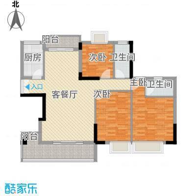 帝景蓝湾124.00㎡帝景蓝湾户型图124.00平方米3室2厅2卫1厨户型3室2厅2卫1厨