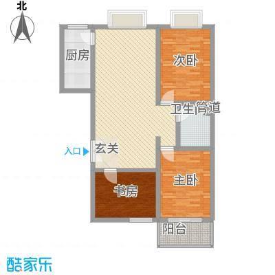 北方三角洲117.00㎡1#楼A户户型2室