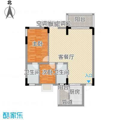 蓝月湾115.00㎡蓝月湾3室户型3室