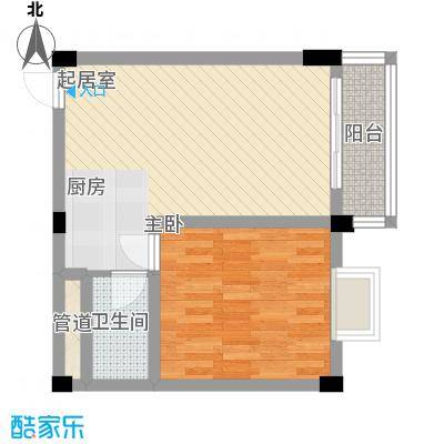 叠美居45.00㎡叠美居户型图B区613户型10室