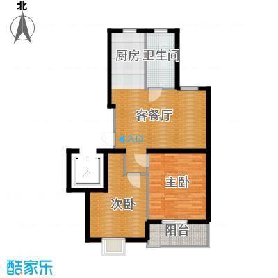 金海香滨湾90.00㎡户型2室1厅1卫