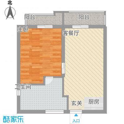 骏涛国际商务公寓60.00㎡骏涛国际商务公寓户型图一房一厅1室1厅1卫1厨户型1室1厅1卫1厨