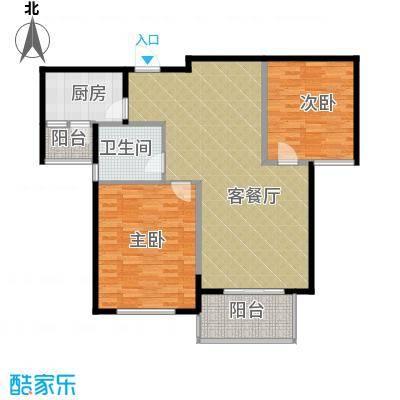 四季风景89.00㎡户型2室1厅1卫1厨