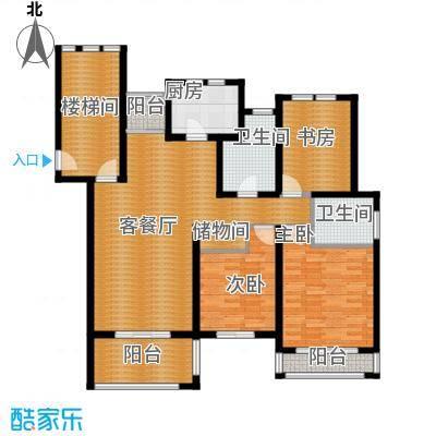 东冠逸家119.00㎡户型3室1厅2卫1厨