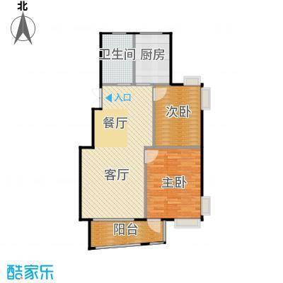 广利佳苑104.67㎡户型2室1厅1卫1厨
