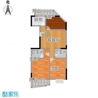秋涛雅苑121.00㎡户型3室1厅2卫1厨