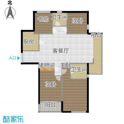 上东臻品155.10㎡户型4室1厅2卫1厨
