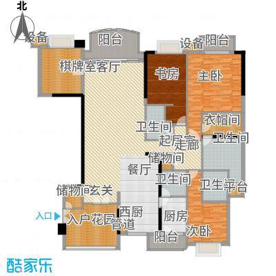 华明园 5室 户型图