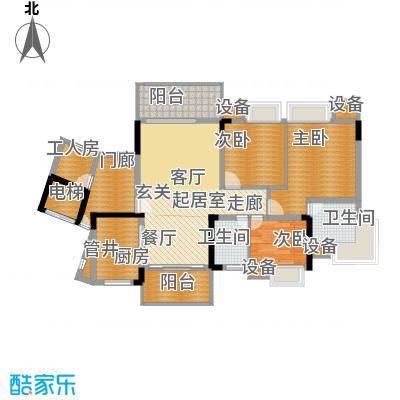 勒水名筑127.74㎡勒水名筑户型图6栋2梯3-10层01户型3室2厅2卫1厨户型3室2厅2卫1厨